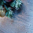 Christmas decoration with fir and baubles. — Stock Photo #36981553