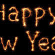 Sparkling Happy New Year words — Stok fotoğraf