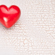 Valentines Day. Red heart on a wooden table. — Stock Photo