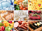 Food collage. — Stock Photo