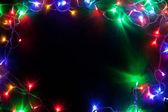 Jul ram med fairy ljus. — Stockfoto