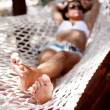 Young woman in hammock. — Stock Photo #37092259