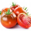 Tomatoes on a white background. — Stock Photo
