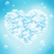 Valentine's Day - abstract blue background with heart shape. — Stock Photo