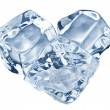 Three ice cubes on white background. — Stock Photo #49561007