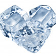 Three ice cubes on white background. — Stockfoto #49561007