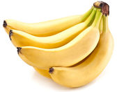 Banana fruits on over white. — Stock Photo