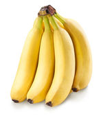 Banana fruits over white. — Stock Photo