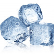 Three ice cubes on white background. — Stockfoto #49921413
