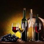 Still life with wine bottles — Stock Photo #5009435