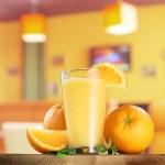 Orange fruits and glass of orange juice. — Stock Photo #51169503