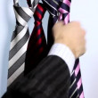 Isolated silk Necktie for successful Business — Stockvideo