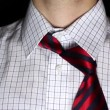 Man Necktie positioning — Stockvideo