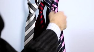 Isolated silk Necktie for successful Business — Stock Video