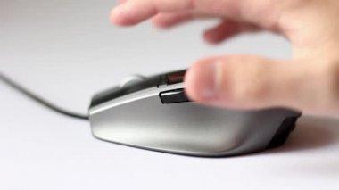 Met behulp van een computer muis hd. — Stockvideo