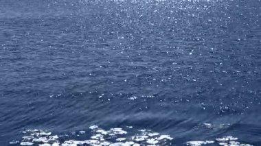 Glitter water flow — Stock Video
