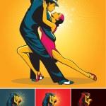 Постер, плакат: Tango dancers