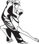 タンゴ ダンサー — ストックベクタ