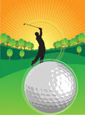 Playing golf — Stock Vector