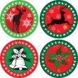 Royalty-Free Stock Vector Image: Merry xmas stamps