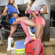Sportive women in gym — Stock Photo #47545207