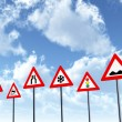 Traffic Signs with Clouds — Stock Photo #12187792