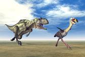 Yangchuanosaurus and Phorusrhacos — Stock Photo