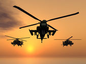 Apache Helicopters — Stock Photo