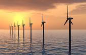 Parque eólico offshore — Foto de Stock