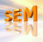 SEM - Search Engine Marketing — Stock Photo