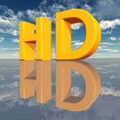 HD - High Definition — 图库照片