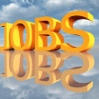 The Word Jobs — Stock Photo