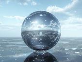 Glass Sphere — Stock Photo