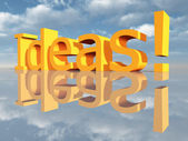 Ordet idéer — Stockfoto