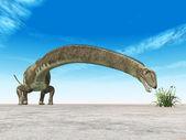 Dinosaur Mamenchisaurus — Stock Photo