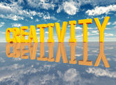 The Word Creativity — Stock Photo
