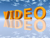 The Word Video — Stock Photo