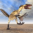 Dinosaur Deinonychus — Stock Photo