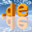 DE Top Level Domain of Germany — Stock Photo