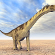 Dinosaur Camarasaurus — Stock Photo