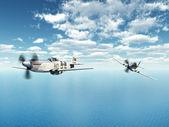 美国战斗机轰炸机 — 图库照片