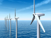 Offshore Wind Farm — Stock Photo