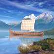viking ship — Stock Photo