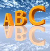 The letters ABC — Stock Photo