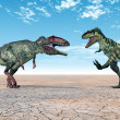 Dinosaur Giganotosaurus and Dinosaur Bistahieversor — Stock Photo