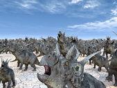 Dinosaur Diabloceratops — Stock Photo
