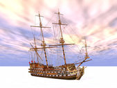Sailing Ship in the Eternal Ice — Stock Photo