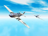 American Fighter Aircrafts — Stock Photo