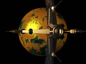 Spacecraft in a Distant World — Stock Photo