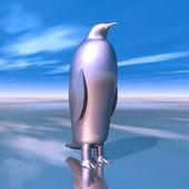 Silver Penguin — Stockfoto